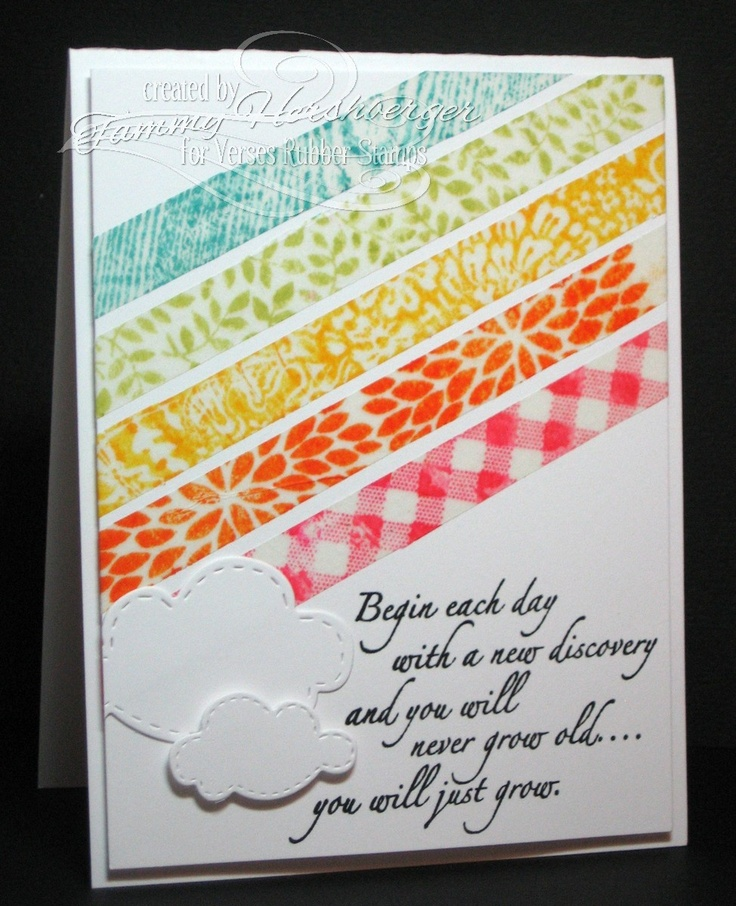 Stamp Happy: Cards Ideas, Crafts Ideas, Handmade Cards, Cardmaking, Cloud, Cards Paper, Cards Inspiration, Great Ideas, Bright Colors