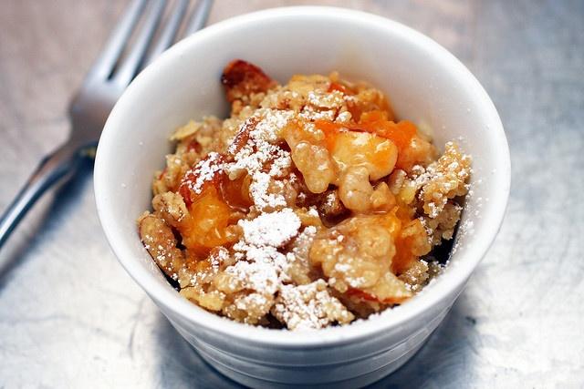 Breakfast apricot crisp - even better with yogurt by smitten, via ...