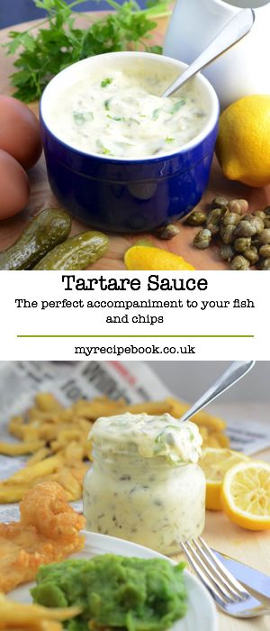 Homemade tartare sauce – the perfect accompaniment to fish, chips and mushy peas, and it's easy to make too.