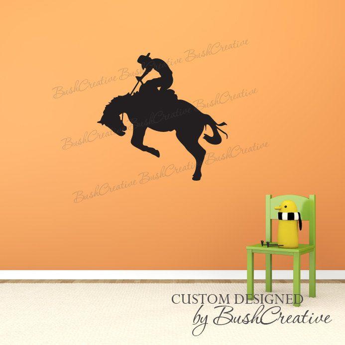 Wall Decals bronco cowboy kids room nursery by bushcreative