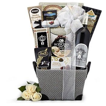 49 best gifts for business associates images on pinterest basket elegant silver cabernet sauvignon gift basket collection negle Gallery