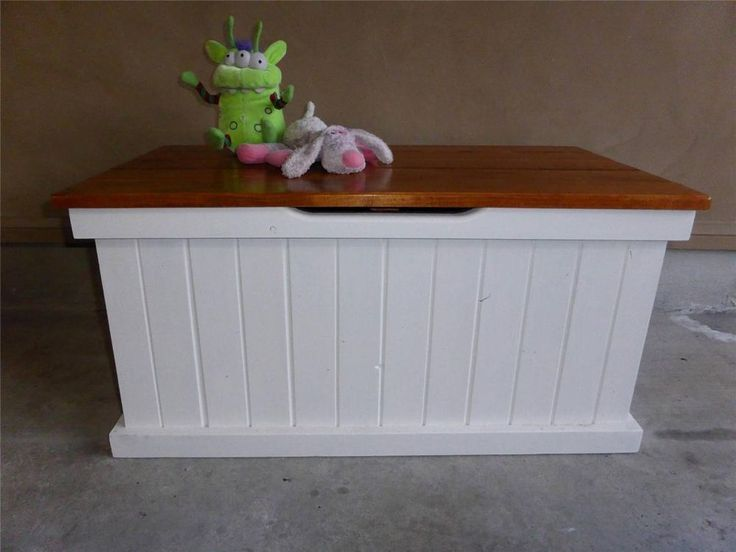 French Country Beach House Long Toy Blanket Box Coffee Table