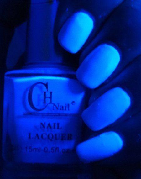 Born Pretty Store Fluorescent Nail Polish - Pastel Blue #naillacquer #wendysdelights #glowinthedark #polish - bellashoot.com