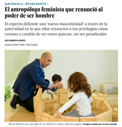 El antropólogo feminista que renunció al poder de ser hombre / @Planeta_Futuro | #readyforequality