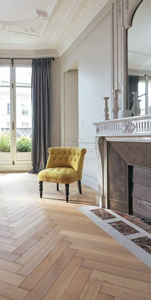 Parquet massif Chêne Mosaique brut Parquet floor Pinterest - Salle A Manger Parquet