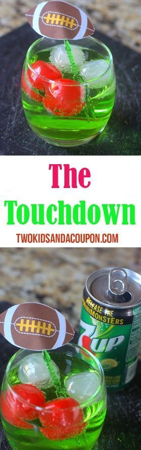"Looking for the perfect game day cocktail to serve at your bowl game party? With only a couple tasty ingredients, the ""Touchdown"" is easy and sure to be a hit no matter who you're cheering for."
