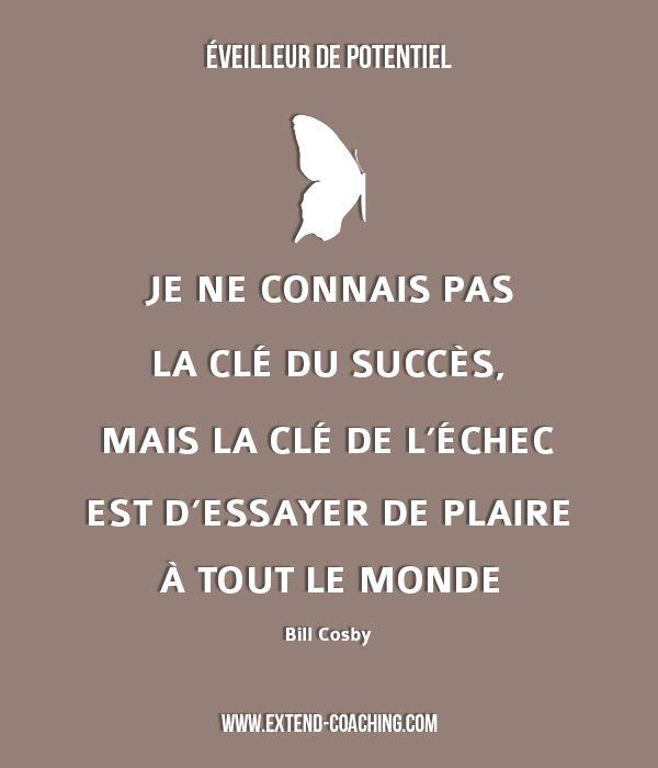 Je ne connais pas la clé du succès, mais la clé de l'échec est d'essayer de plaire à tout le monde - Bill Cosby
