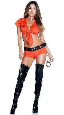 LOCKDOWN TROUBLEMAKER COSTUME Prisoner Orange is the New Black Sexy NEW! Hallowe