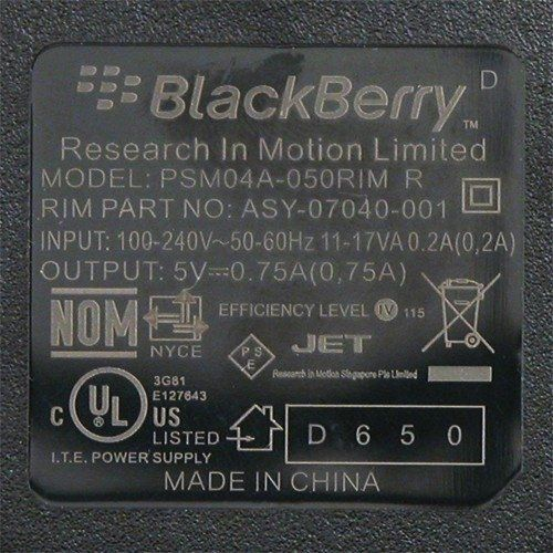 Buy OEM Home / Wall / Travel Charger for RIM Blackberry Curve 8300 8310 8320 8330 Pearl 8100 8110 8120 USED for 1.8 USD | Reusell