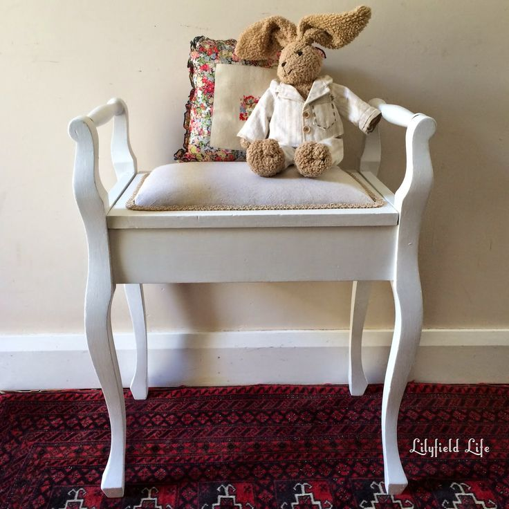 Vintage Piano Stool Makeover