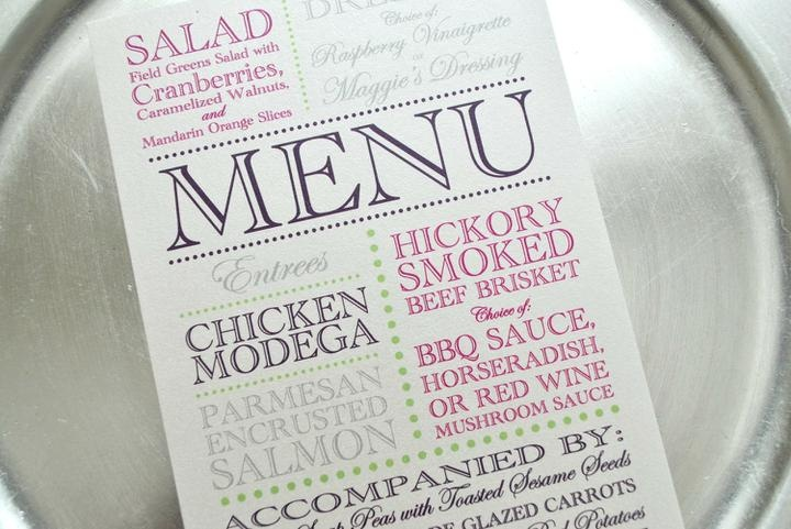 love the type face of this menu!
