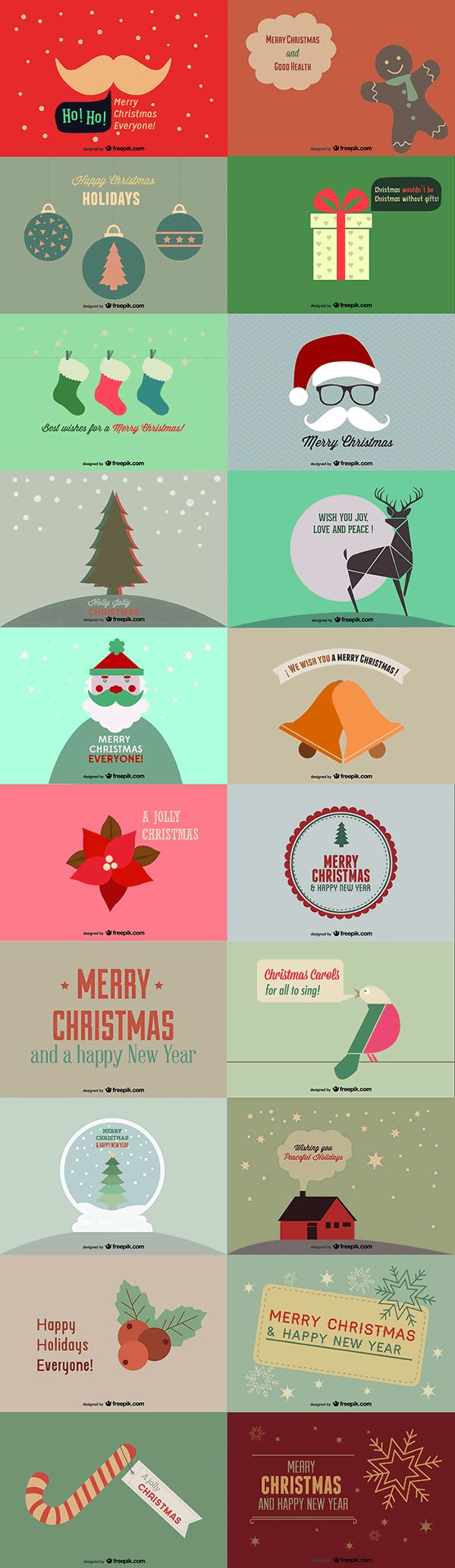 vetctor christmas cards #freebie #christmas