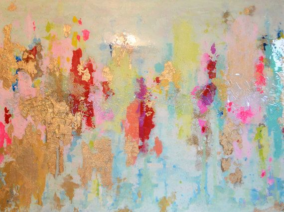 Sold Acrylic Abstract Art Large Canvas von BlueberryGlitter auf Etsy