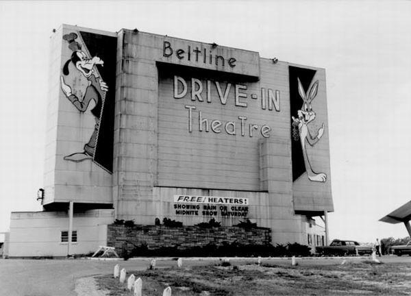 Beltline 3 Drive-In Theatre, Grand Rapids, MI- SCREEN FROM JACK LOEKS THEATRES COLLECTION