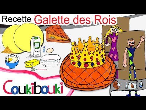 RECETTE pour enfant Galette des Rois en dessin animé | Fête des Rois - Épiphanie - YouTube