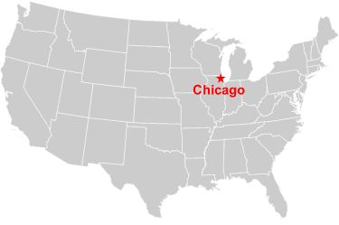 Chicago In Map Usa