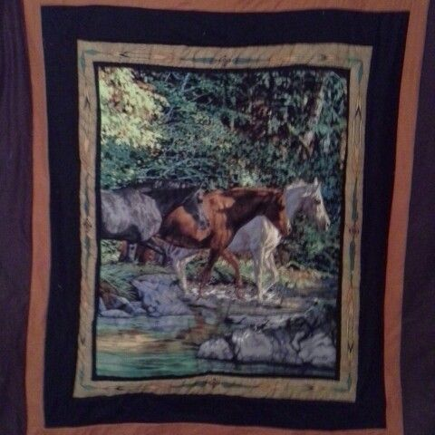 Hand made double bed ,  Horse quilt,  for all the horse lovers out there bring you passion inside  $250.00 including p+h within australia