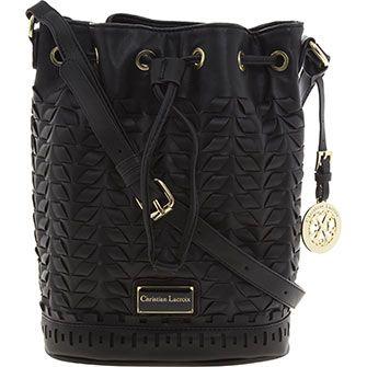 £35 Black Woven Bucket Bag