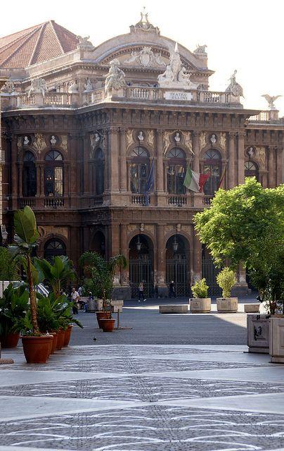 Catania, Via Vincenzo Bellini, Teatro Massimo Bellini ,Italy