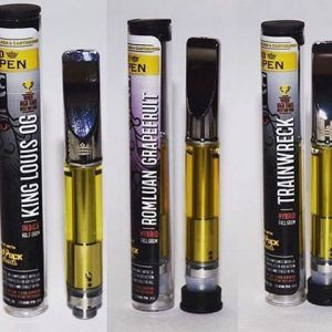 Buy 710 King Pen Vape Oil Cartridges in 0.5g. Comes in Sunset Sherbet, Gelato , Skywalker OG , Train wreck, Romulan Grapefruit ,King Louis XIII, 3 Kings, Jack Herer, Cali-O, Gelato, and Super Lemon Haze.