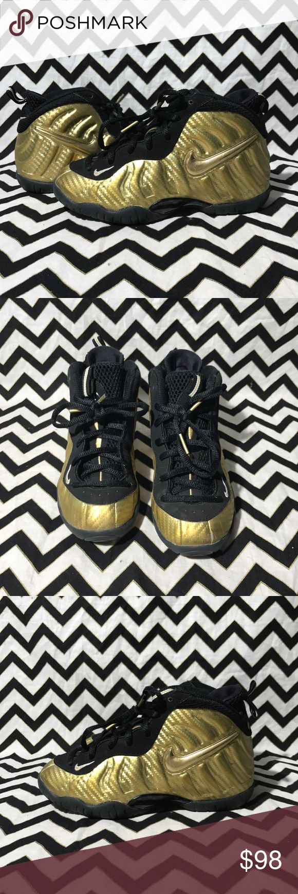 Gold foamposites Size 13c 8-10 condition Nike Shoes Sneakers