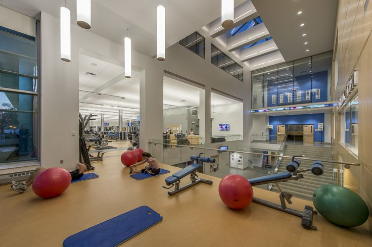 Interior of Tufts University's Steve Tisch Sports & Fitness Center, designed and constructed by Stanmar, inc.
