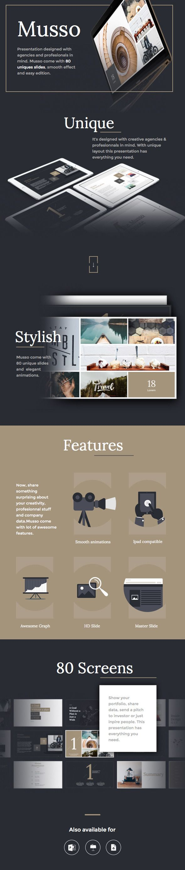 Musso PowerPoint/Keynote presentation design theme from GraphicRiver.