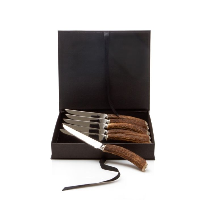 Steak Knives Set of 6 - Antler Rustic