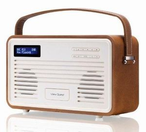 Retro Radio Wekker View Quest DAB+ Brown 8 Pin