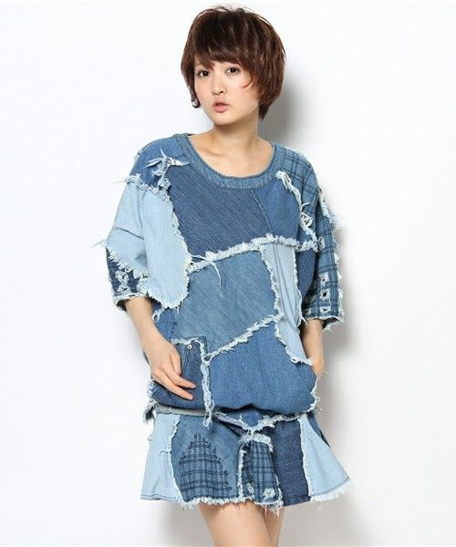 NOZOMI ISHIGURO Haute Couture,denim patchwork