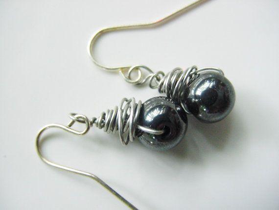Petite Wire Wrapped Earrings  You choose the by CherylsHealingGems