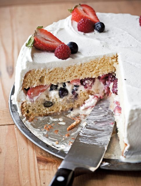Tres Leches Cake With Fruit Filling