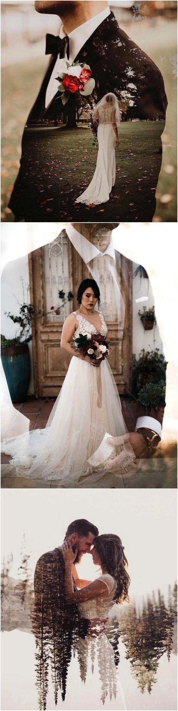 Doppelbelichtung Hochzeit Fotografie Ideen #hochzeit #hochzeiten #hochzeitsideen #foto
