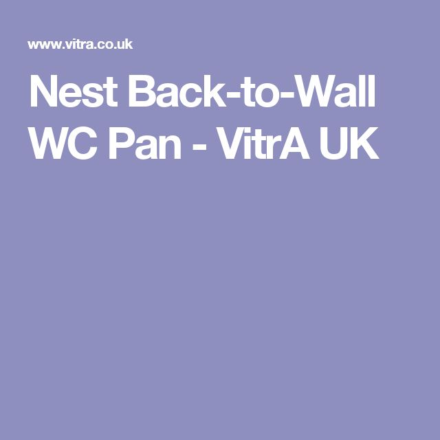 Nest Back-to-Wall WC Pan - VitrA UK