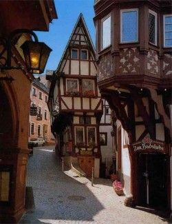 Bernkastle-Kues Old wine town in Germany.