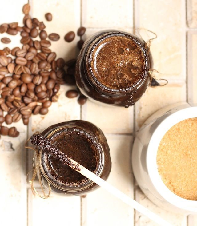 DIY coffee beauty scrub