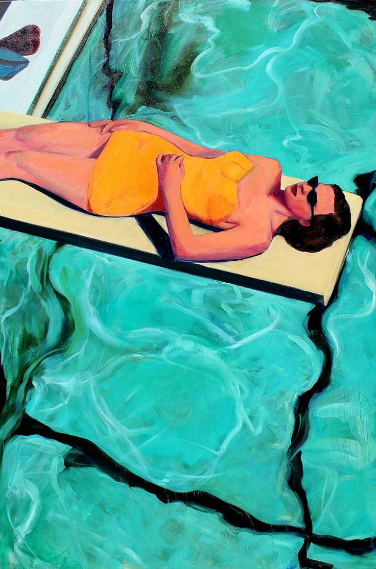 Swimming Pool Art : Best swimming pool art paintings of pools images on