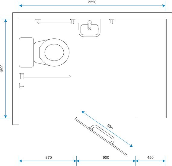 Toilet Cubicle Dimensions Toilet Cubicle Sizes Standard Cubicle Guide Cubicle Centre Medidas