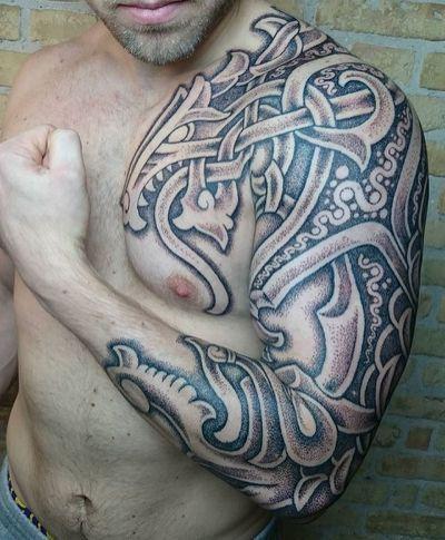 Best 25+ Viking tribal tattoos
