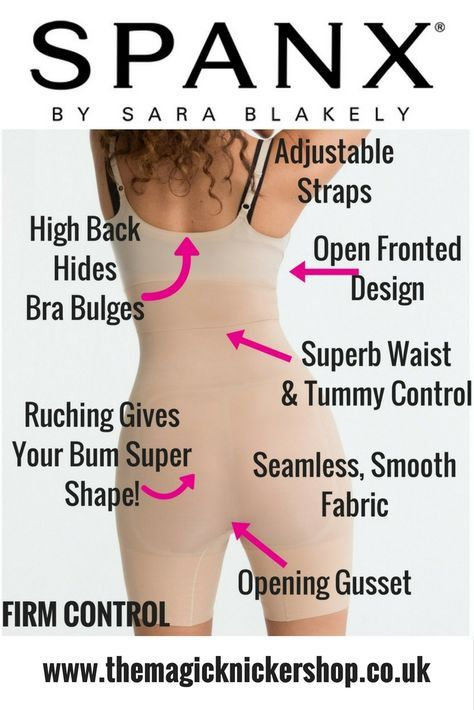 41787945dbbc2 The Spanx Shape My Day Open Bust Mid Thigh Slimming Bodysuit is FIRM in  slimming control.