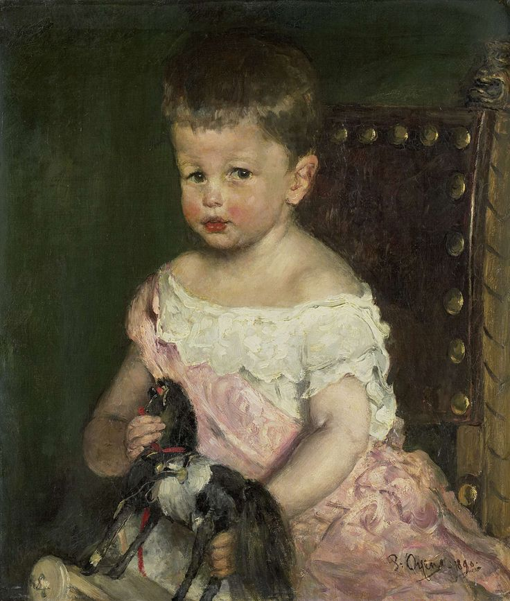 Hendrik Waller (1887-1951) op driejarige leeftijd, Pieter Oyens, 1890