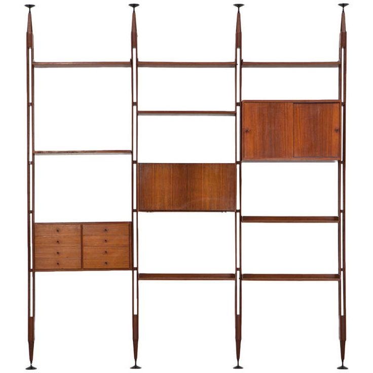 Franco Albini Library Manufactured by Poggi ca.1957 | From a unique collection of antique and modern bookcases at https://www.1stdibs.com/furniture/storage-case-pieces/bookcases/