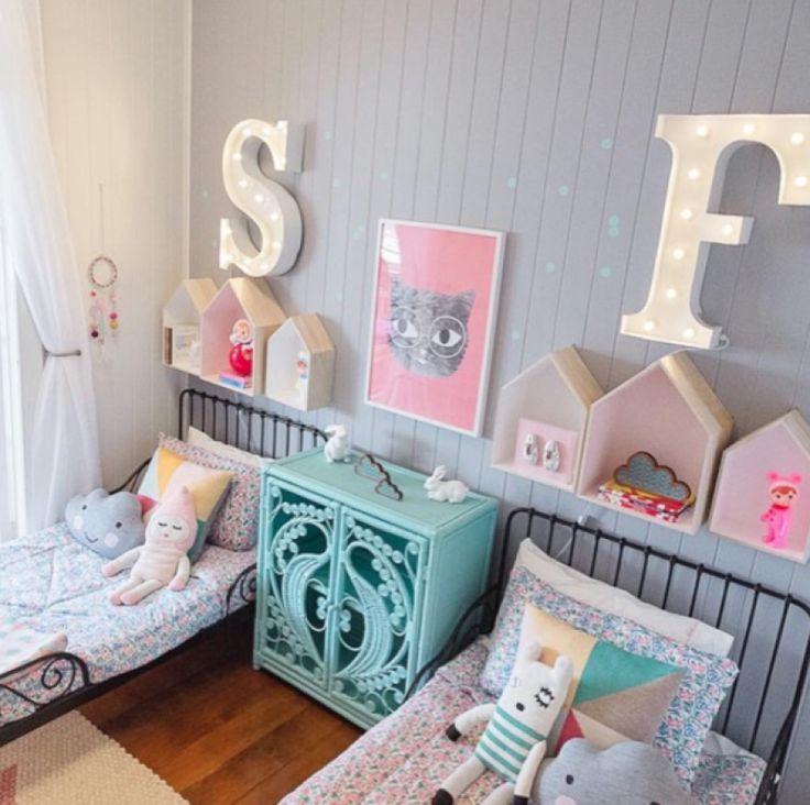 Quarto Montessoriano Compartilhado ~ Um quarto, duas crian?as meninas, cada uma no seu canto Veja lindas