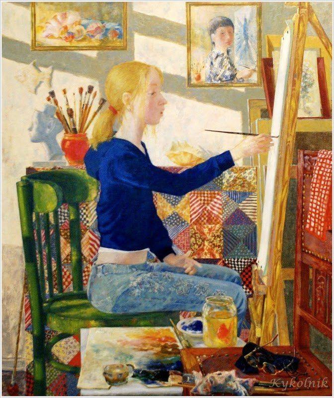 Юфреев Г.В. «Вдохновение», триптих «Путь» 2008