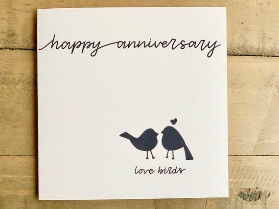 Happy Anniversary Love Birds Heart Husband Wife Couple Etsy Happy Anniversary Wishes Happy Anniversary Happy