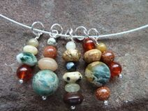 lovely gemstone pendants on collier