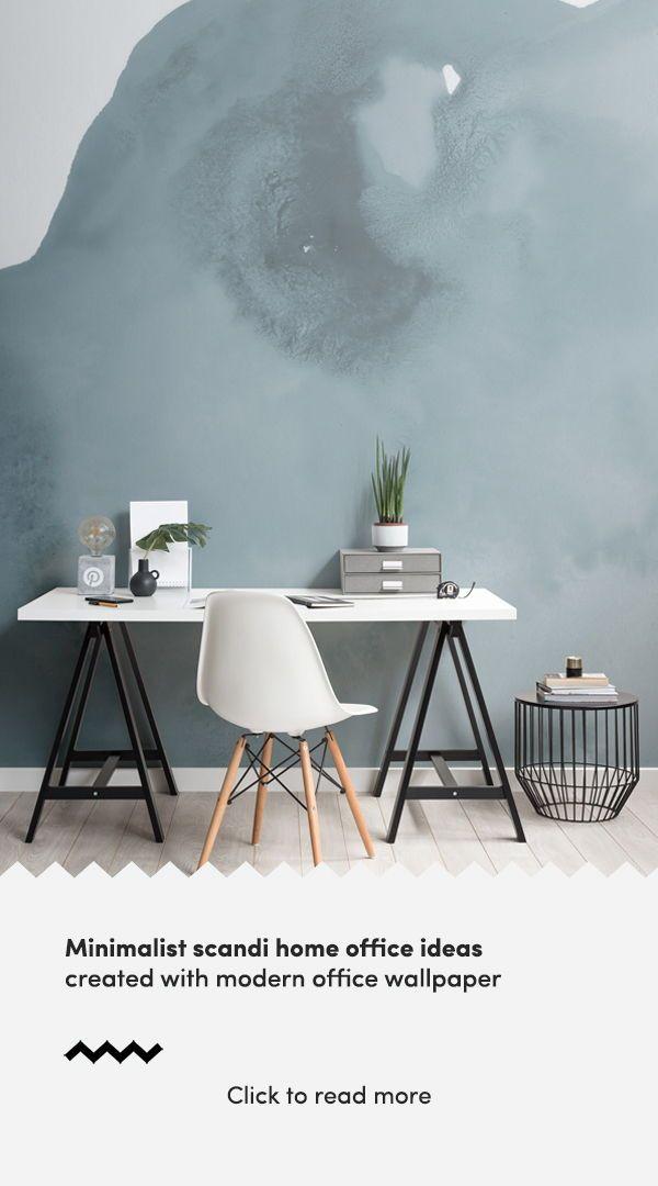 Blue Watercolour Wallpaper Light Blue Style Muralswallpaper Interior Design Styles Modern Wallpaper Scandinavian Style Home