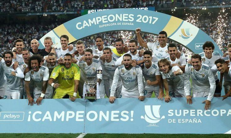 SUPERCAMPEONES SUPERCOPA ESPANHOLA X BARCELONA  TEMPORADA 17/18 MADRID 2X0 Asensio e Benzema