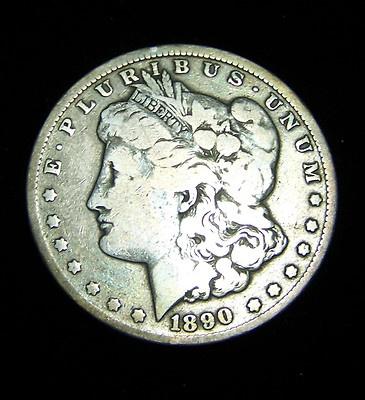 Circulated 1890 CC Morgan dollar