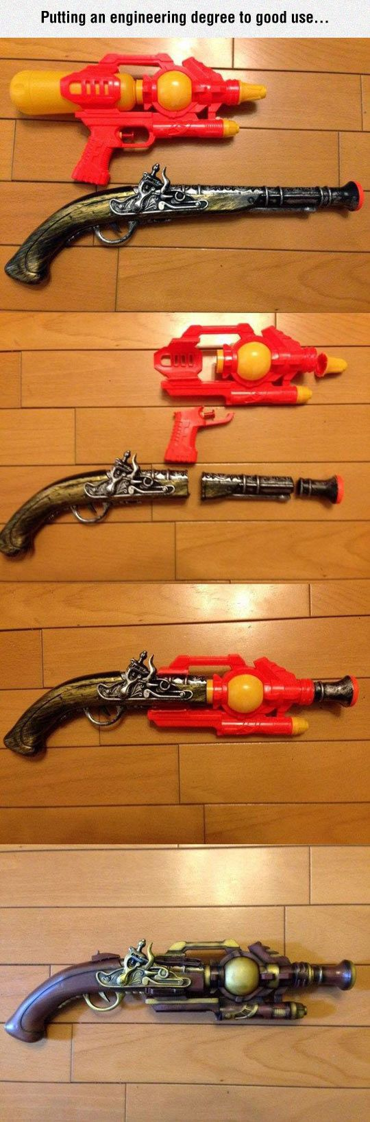 Make Your Own Steampunk Weapon #Funny #Images